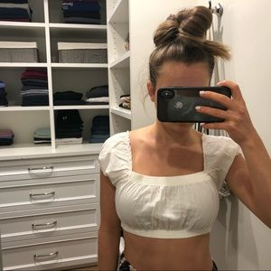Brandy Melville Tops - White Brandy Melville Crop